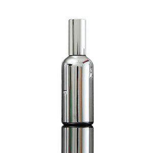 Fuyun Quick Shipping Silver Color Plated Essential Oil Spray Bottle 100ml Empty Glass Perfume Oil Bottles with Sprayer