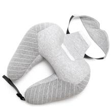 Stock Micro beads Travel Neck Pillow with Eyemask