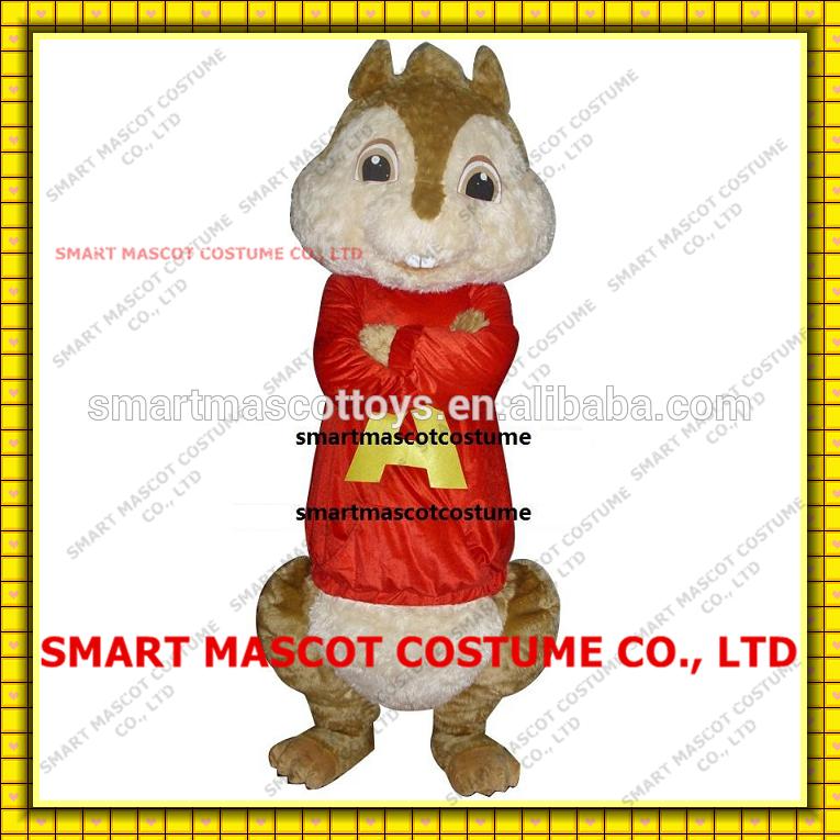 professionale personaggio dei cartoni animati Alvin e il chipmunk costume Alvin e il chipmunk per adulti
