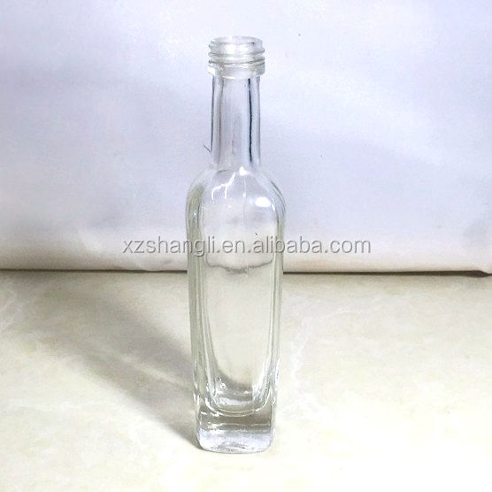 Food Safe Bottles Glass 50ml Mini Square Bottle LFGB Certification