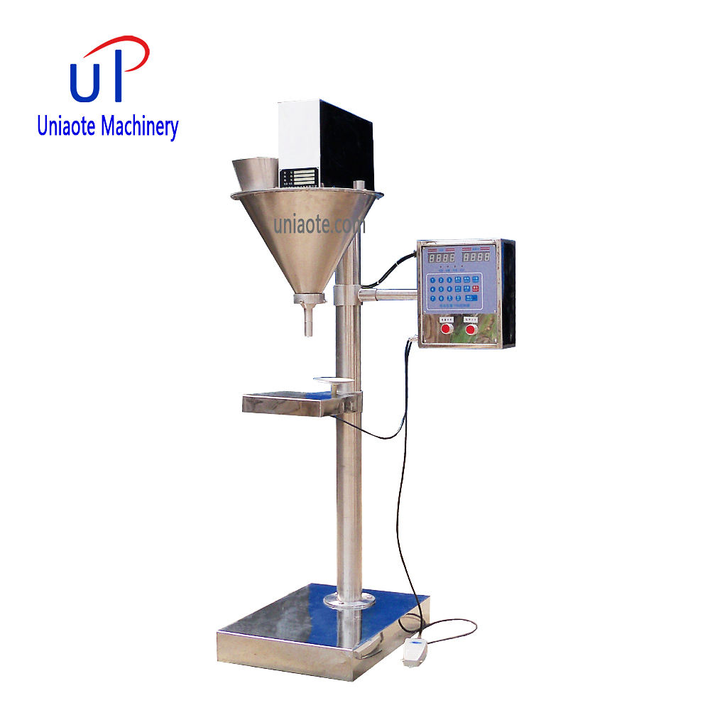 Semi Automatic Auger Dosing Powder Filling Machine / Small Volume Auger Powder Filler for Sachets 1-50 Gram