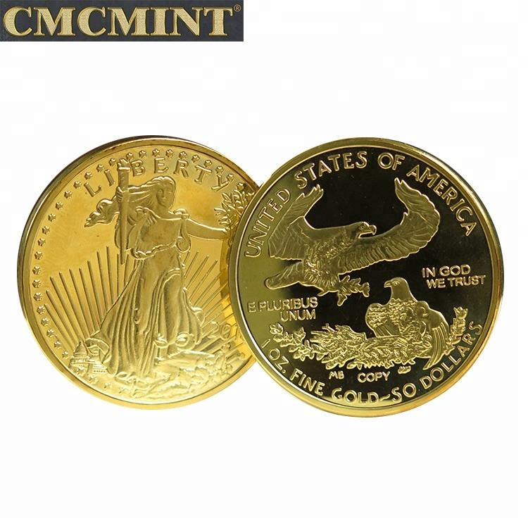 2018 (High) 저 (Quality American Eagle coin 금 plated coins 대 한 선물