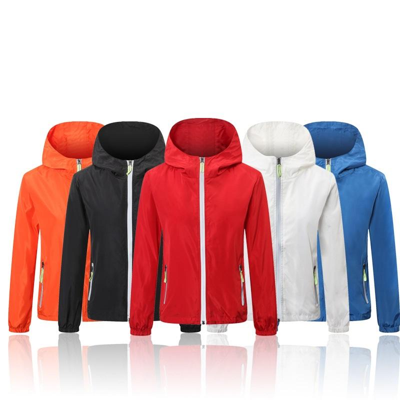 Zip Up Thin Design Fashion Color Nylon Rain Sun Wind Proof Jacket