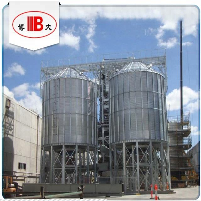 Assembly Silo Metal Assembly / Bolted Steel Silos For Sawdust And Wooden Chips Or Wooden Pellets