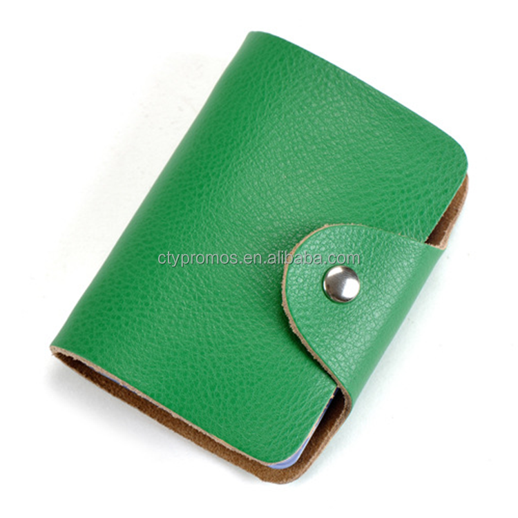 Cheap Pu Leather Business Credit Card Holder Wallet For Promotion