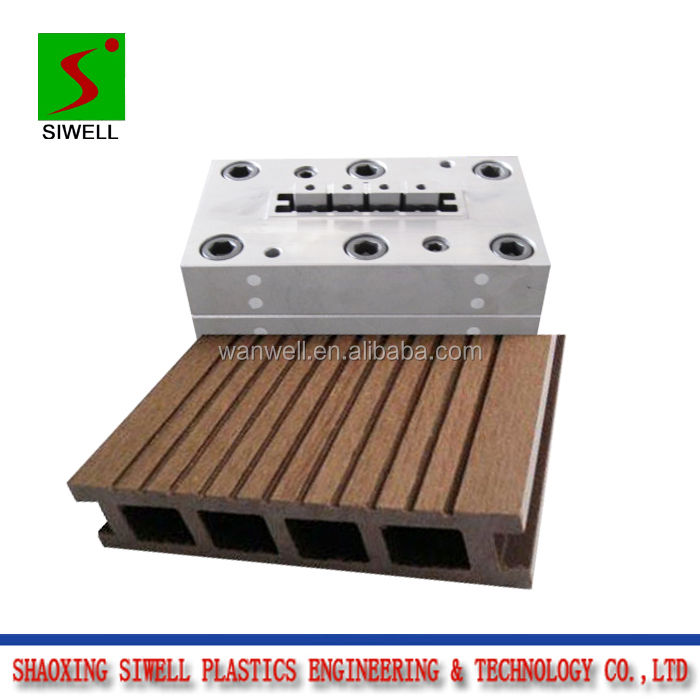 PVC schaum WPC decking mould/sterben