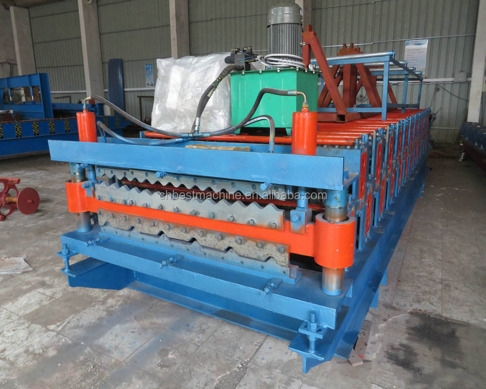 Good Price New Type Roof Sheet Double Layer Tile Roll Forming Machine In Hebei