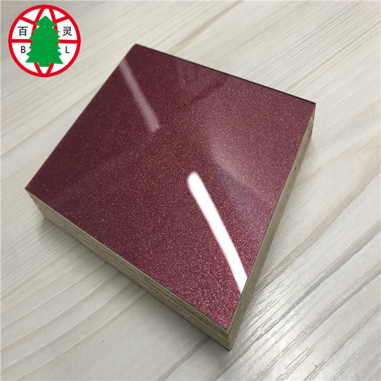 High gloss acrylic faced plywood for furniture grade