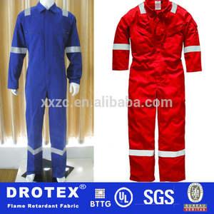 pyrovatex المعالجة 100% 350 dickies الصناعية gsm القطن البدلة النار المانع، المعطف لفصل الشتاء
