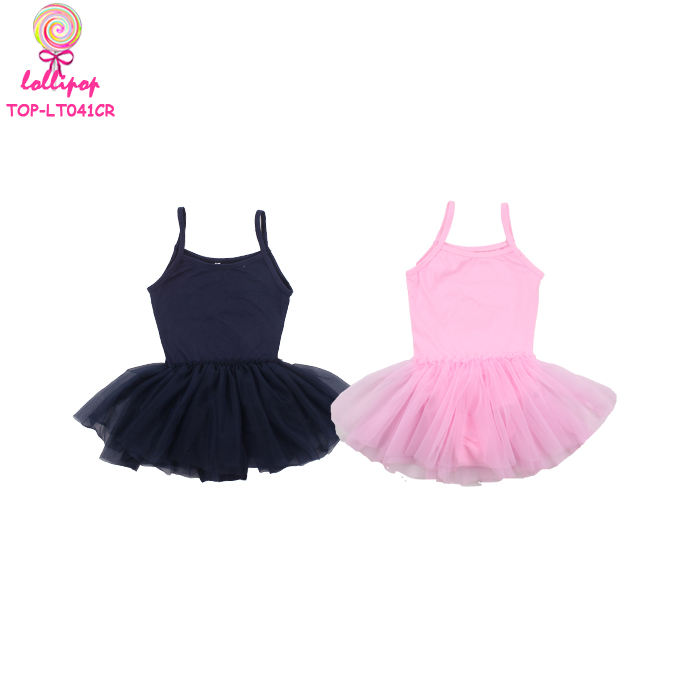 Little Girl Leotard Wholesale Ballet Costume Tutu Skirt Dress Kids Sleeveless Floral Dance Wear Tulle Child Leotards