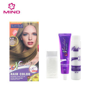 Private Label Protein Natural Nourishing Colorful Permanent Hair Color Cream
