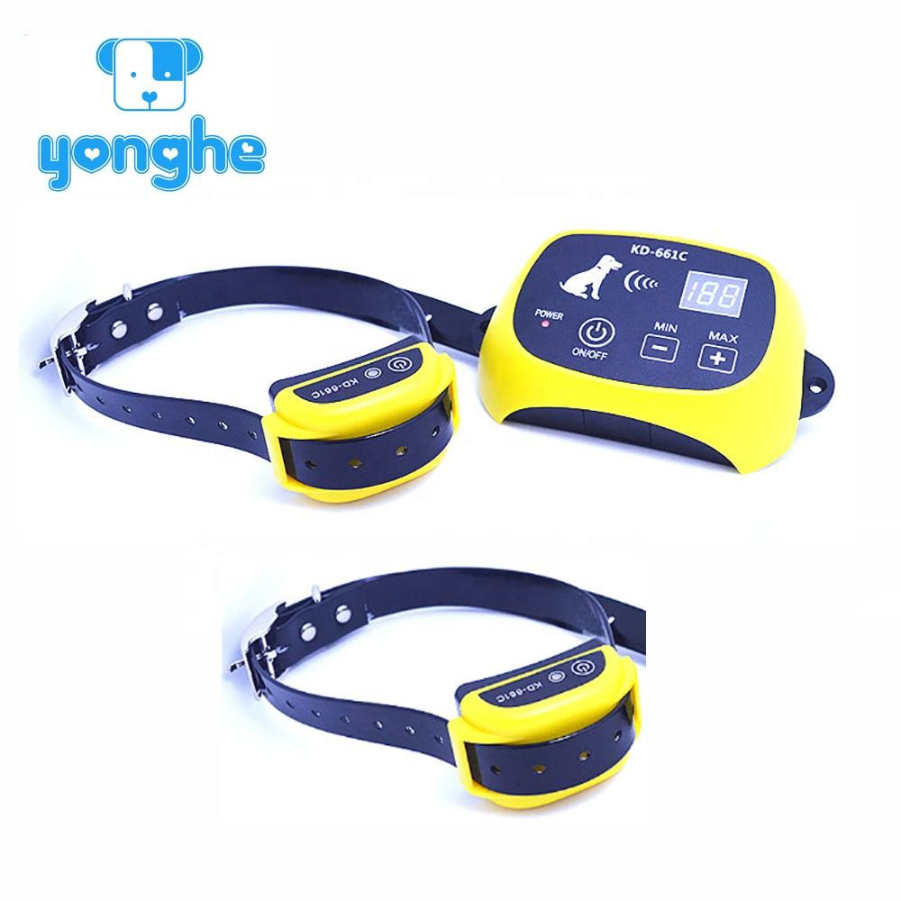 Electronic dog trainer training product electric dog fence rechargeable for 2 dogs