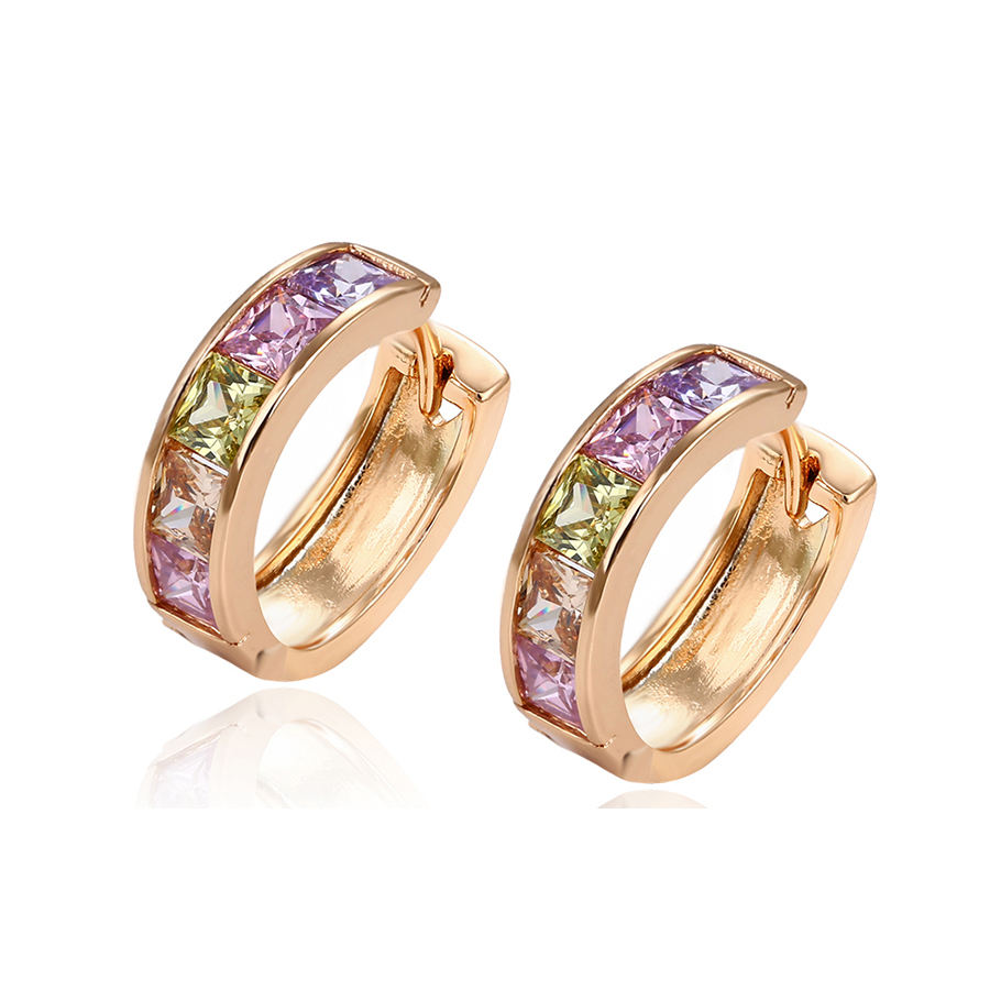 29255 Xuping Limited order quantity show promotional price Jewelry 18K Gold Plated Fashion Huggies Earring For Women