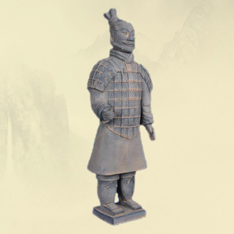 Life size terracotta warriors statue of Qin din dynasty