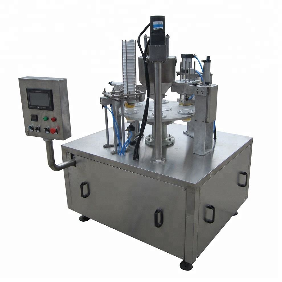 Shanghai Joygoal automatic rotary type creative water cup filling packing machine