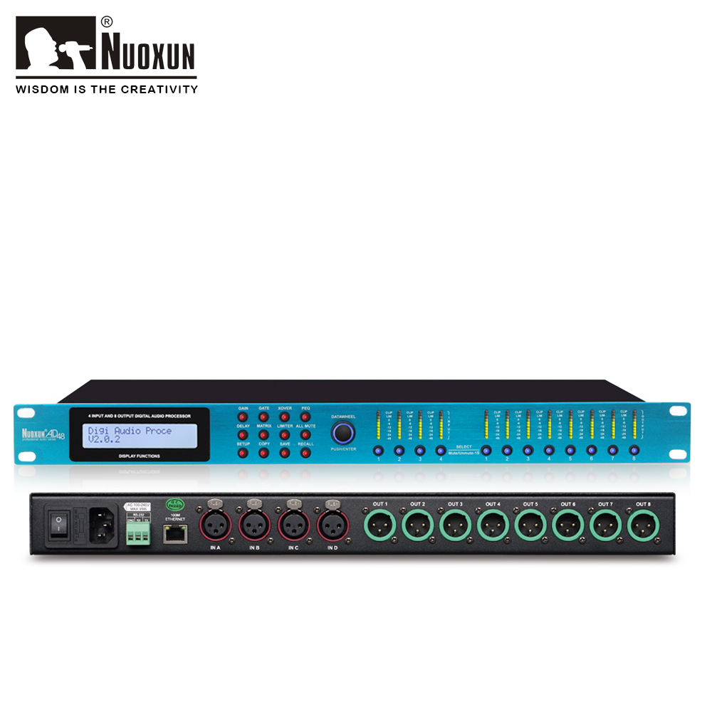 4 input 8 output DSP professional digital audio 프로세서 와 RS232 인터페이스
