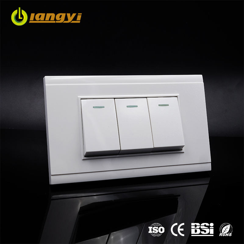 Professional Design South Eastern Asia 3 Gang 2 Way Light Switch Wall Switch