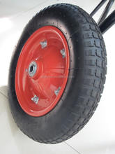 13 in Ribbed Flat Free Wheelbarrow Tire