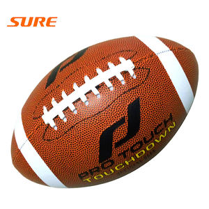 Custom logo leather football professional rugby size 9 american football