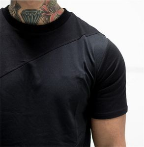 Patchwork Coolmax T-shirt Mannen Custom Droge Fit Gym Dragen