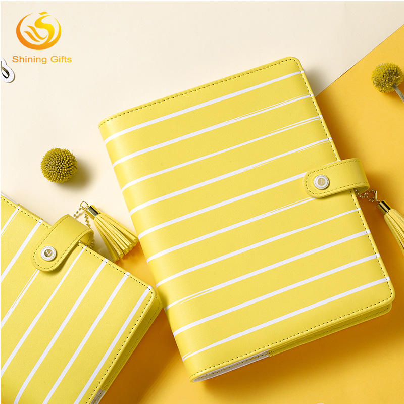 2018 Gift Agenda Planner Notebook 6 ring Binder A5 A6 PU Leather Cover Organizer Diary