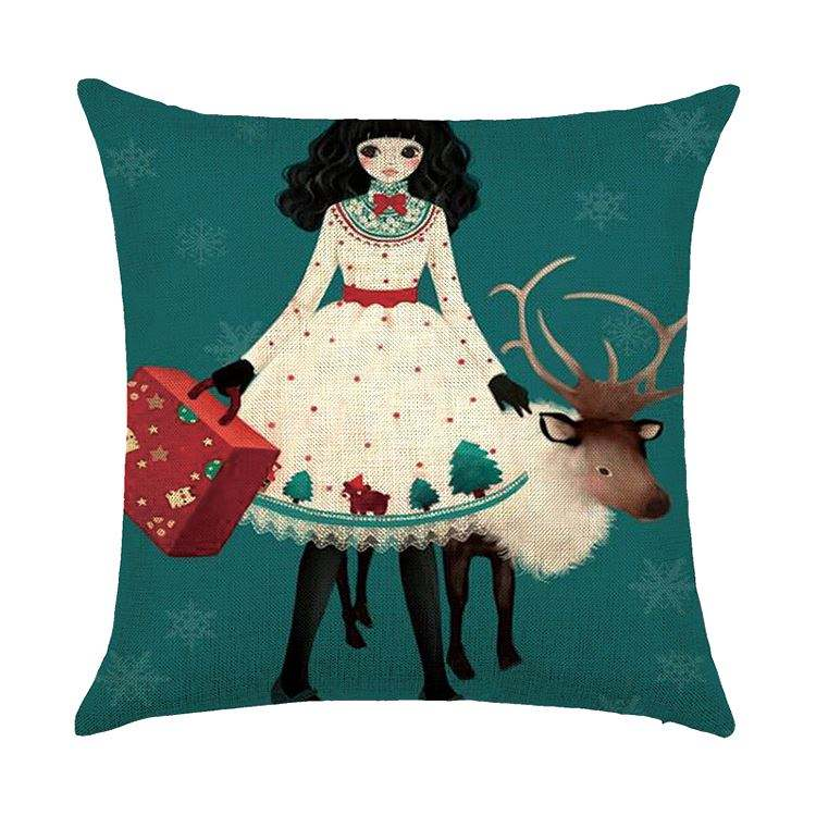New coming decorative christmas hold pillow kids gift toy wholesale newest christmas cushion
