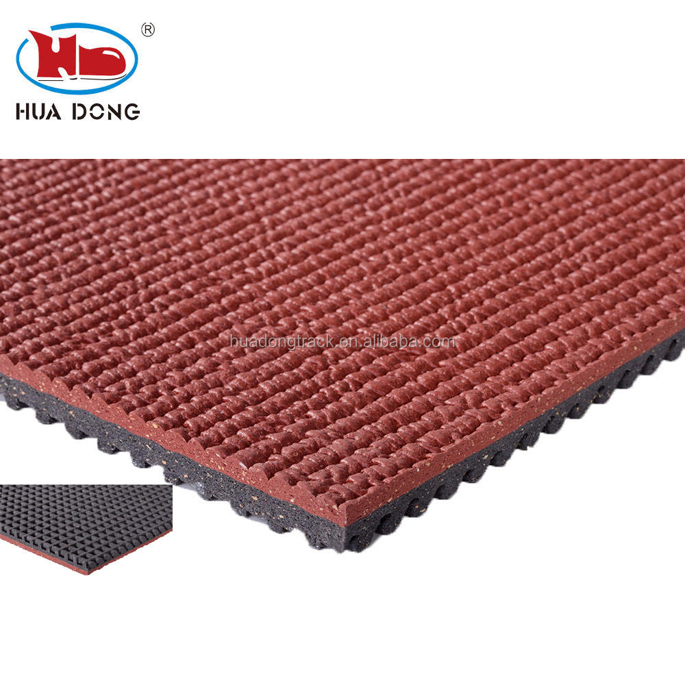 easy install prefabricated rubber athletic running track material track surface