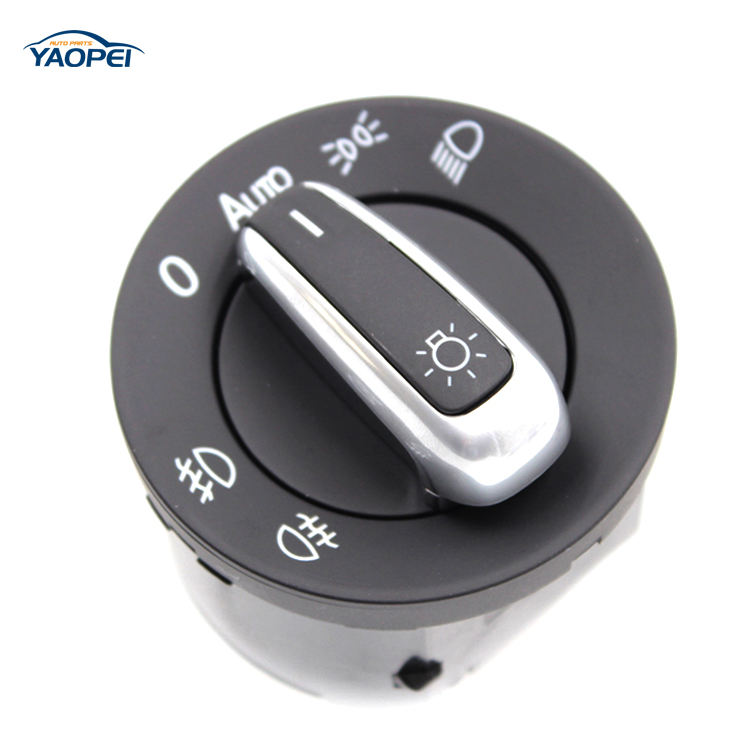 5ND 941 431 B/5ND941431B OE Quality Chrome Auto Headlight Switch Fog Lamp Switch For VW Jetta Golf MK5 MK6 Tiguan Passat B6