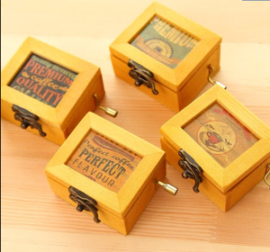 2016 ขายส่ง MINI DIGITAL Music BOX ลำโพง CUSTOM Music กล่อง Hand Crank Music BOX