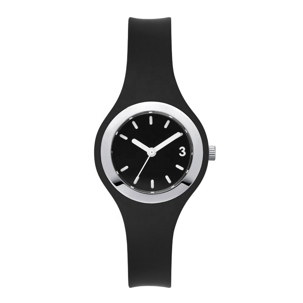 Custom watch minimal alloy and silicone watch lady colors ado-children baby watches