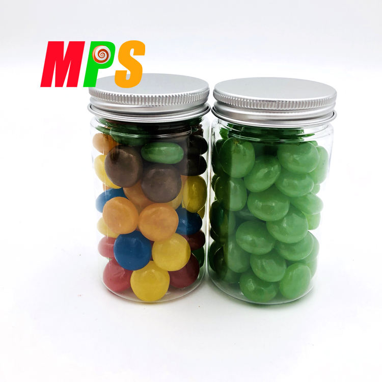 Pil Erwt Vorm multi-color Jelly Bean Snoep in <span class=keywords><strong>Plastic</strong></span> Pot