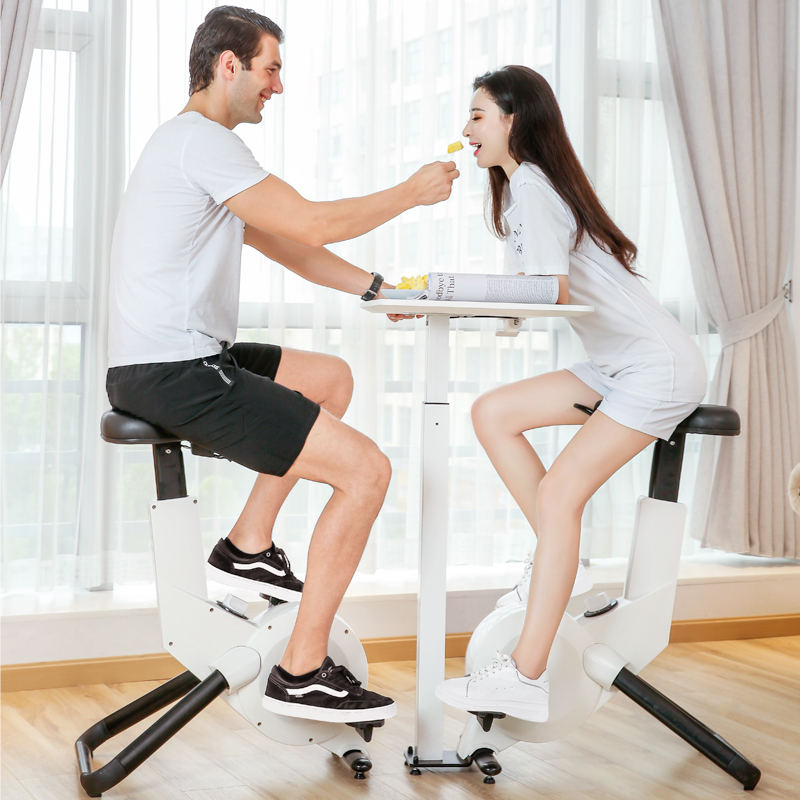 Home Office Standing Desk Height Adjustable Cycle Exercise Bike