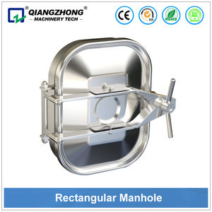 stainless steel tank middle square manway/manway covers