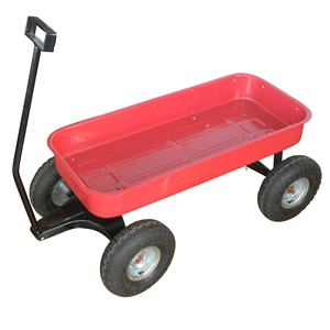 metal tray 4 wheel garden tool cart