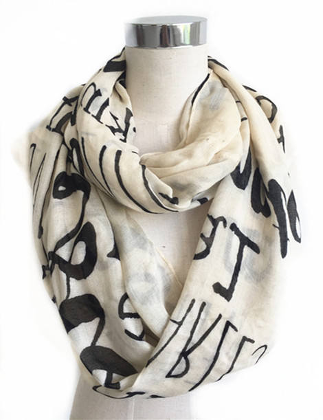 super soft fashion custom design bamboo women infinity scarf