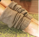Plain knitted 100% cashmere leg warmers