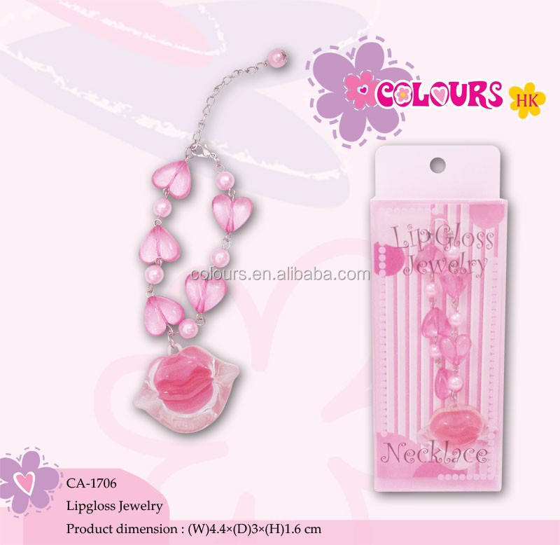 Private Label Lip Gloss with Necklace