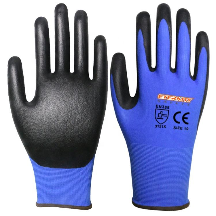 13g nylon 와 폼 니트릴 coating glove manufacturer
