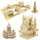 Oray Wholesale Wood Craft Construction Kit 3D Wooden House Model Jigsaw Puzzle For Kids