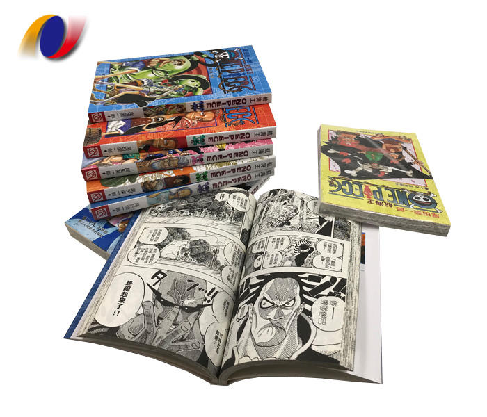 China Factory Cheap Custom Wholesale Color Manga Book Printing