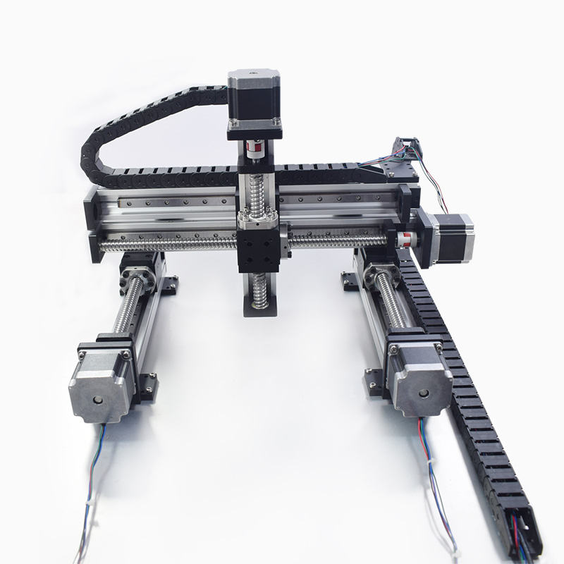 Automatic Gantry Robot Linear Modules Slide XYZ Axis Multiaxial Rail Motion Guide Actuator Ball Screw Motor Robotic Table