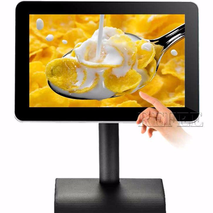 10.1'' battery multi touch table stand android advertising media player for smart menu