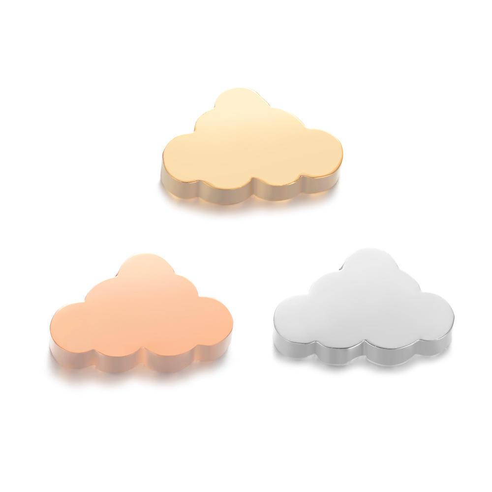 8pcs-gold tone enamel Rainbow cloud Charm-enamel smile face cloud  charm