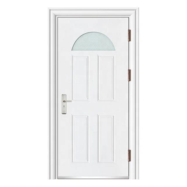 Wholesale Price Apartment Steel Door with Glass