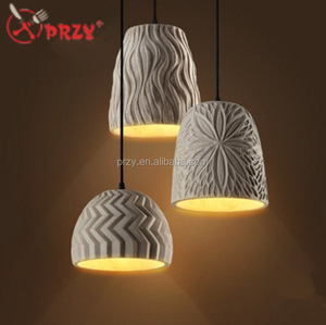 PRZY 2018 new creative Cement Art chandeliers silicone molds simple Cement Lampshade silicone Moulds