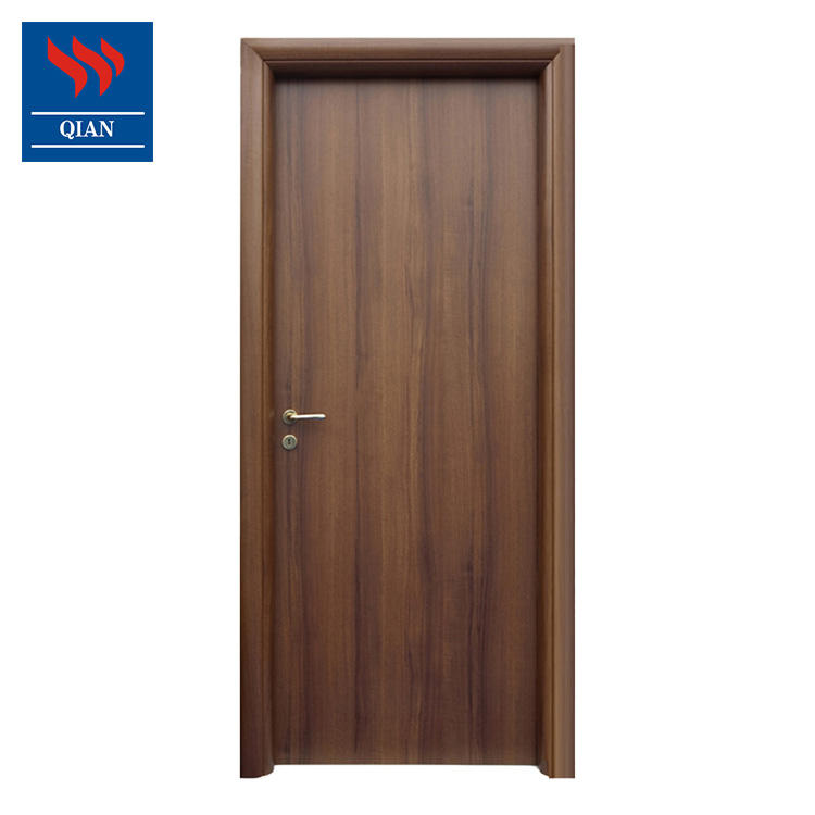 Customised Front Door Fireproof Wood Door Fire Rated Hotel Wooden Veneer Room Door