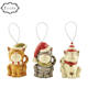 Hot sale factory direct price hanging pet ornaments christmas glass ornament decorations