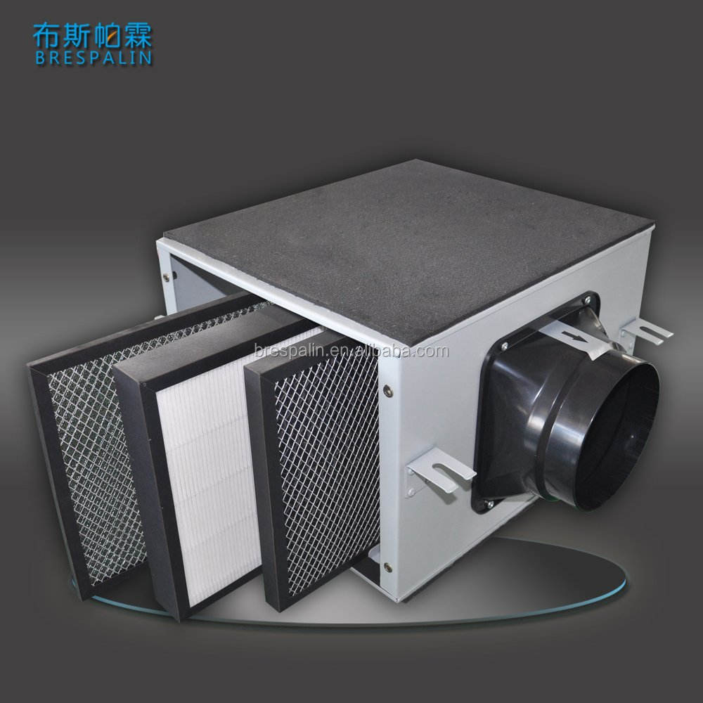 Inline Air Filter Box with HEPA Filter and Activated Carbon Filter for Ventilation System Exhaust Fan