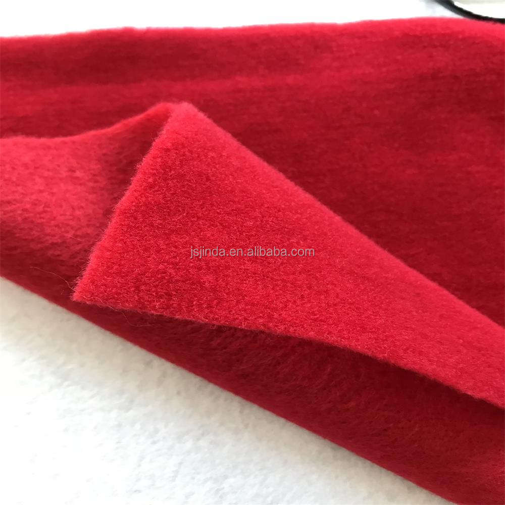 100% Polyester Loop Fleece Fabric Hook Brushed Brown Black Velboa Velvet for Patchwork Sewing Nonwoven Plush Felt Fabric