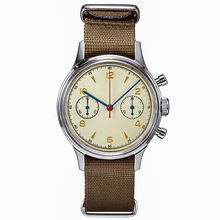 OEM high quality private label army vintage classic chronograph hand automatic men luxury military watch for sale